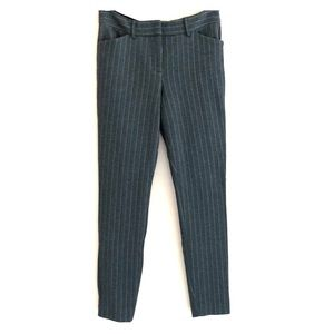 Express Mid Rise Stretch+ Gray Striped Skinny Pant